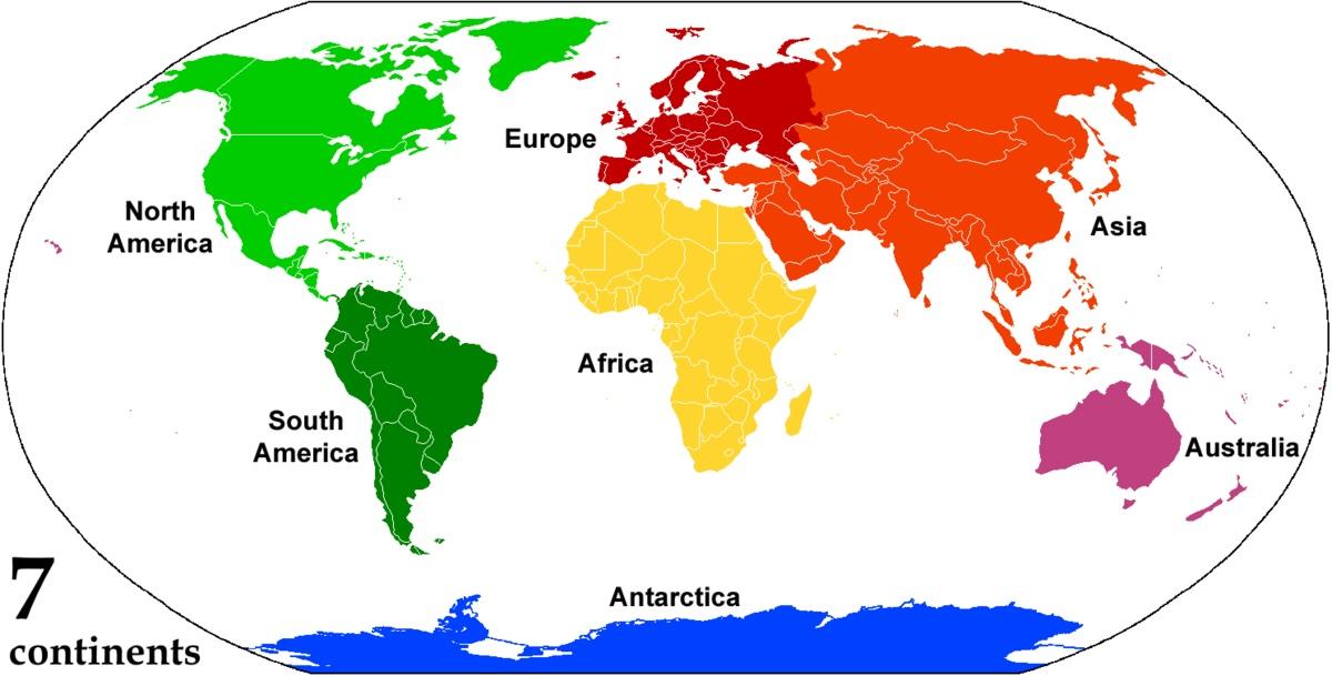 7 ทวีปของโลก
