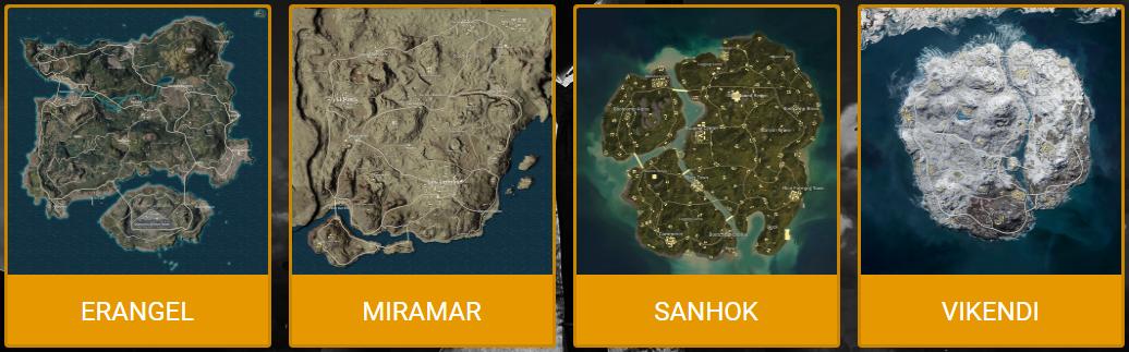 แนะนำ 4 แผนที่ในเกม PUBG Mobile